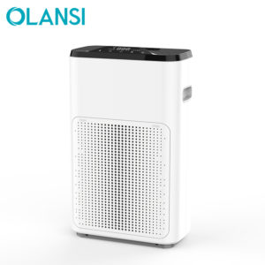desktop mini small Smart portable home air purifier cleaner with LCD PM2.5 display